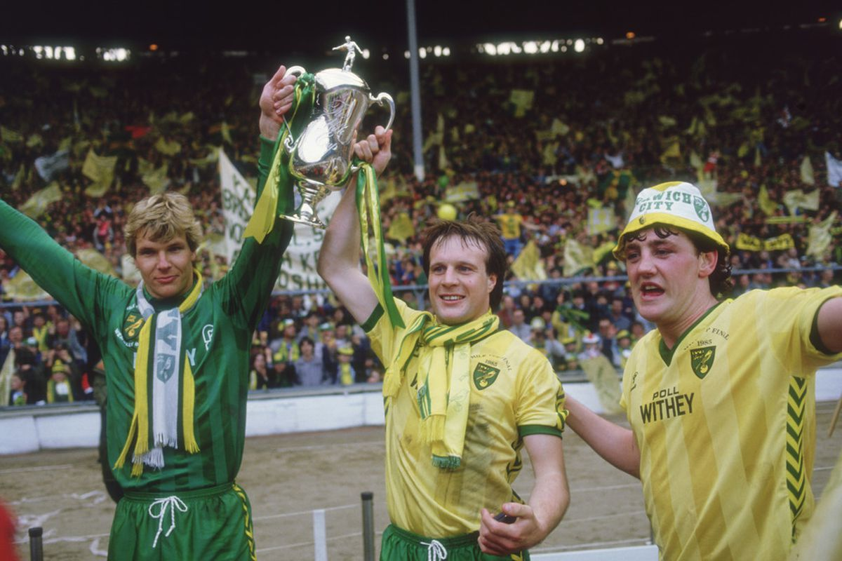 Steve Bruce celebrates victory in the game that started it all.