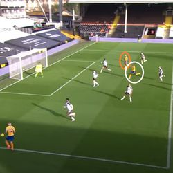 The wide-open Digne sees a couple of options in the box