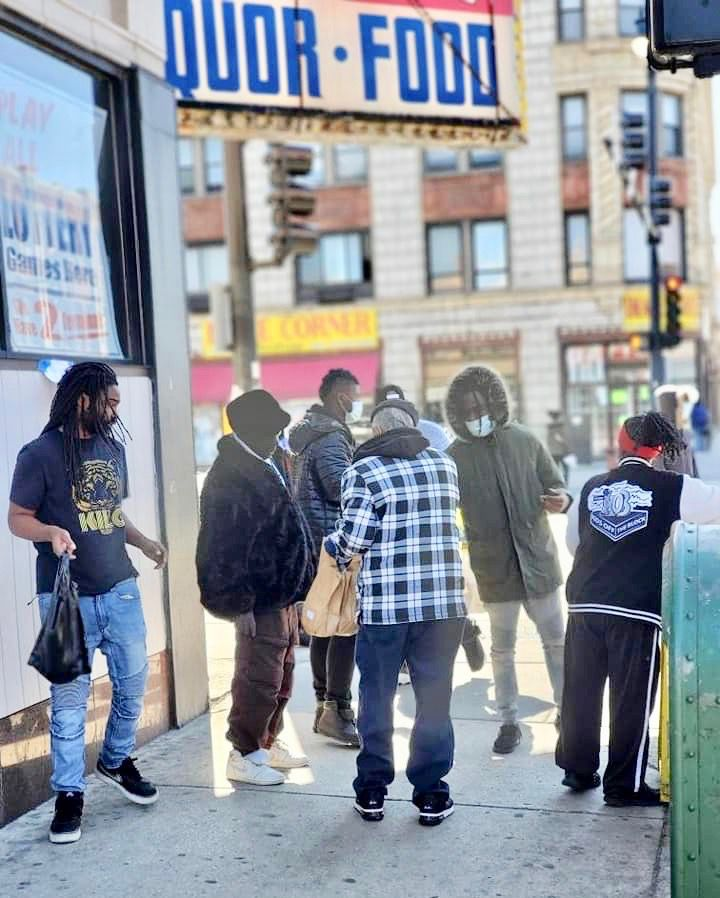"Kids Off The Block's ""Resource & Response Project"" has had volunteers daily riding around the city for the past month, doling out food, masks, gloves, sanitizer, disinfectant and postcards with lifesaving COVID-19 information on street corners throughout the South and West sides."