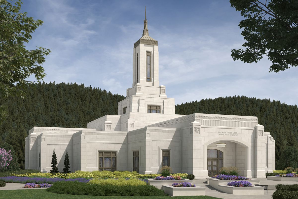 An artist's rendering of the Willamette Valley Oregon Temple.