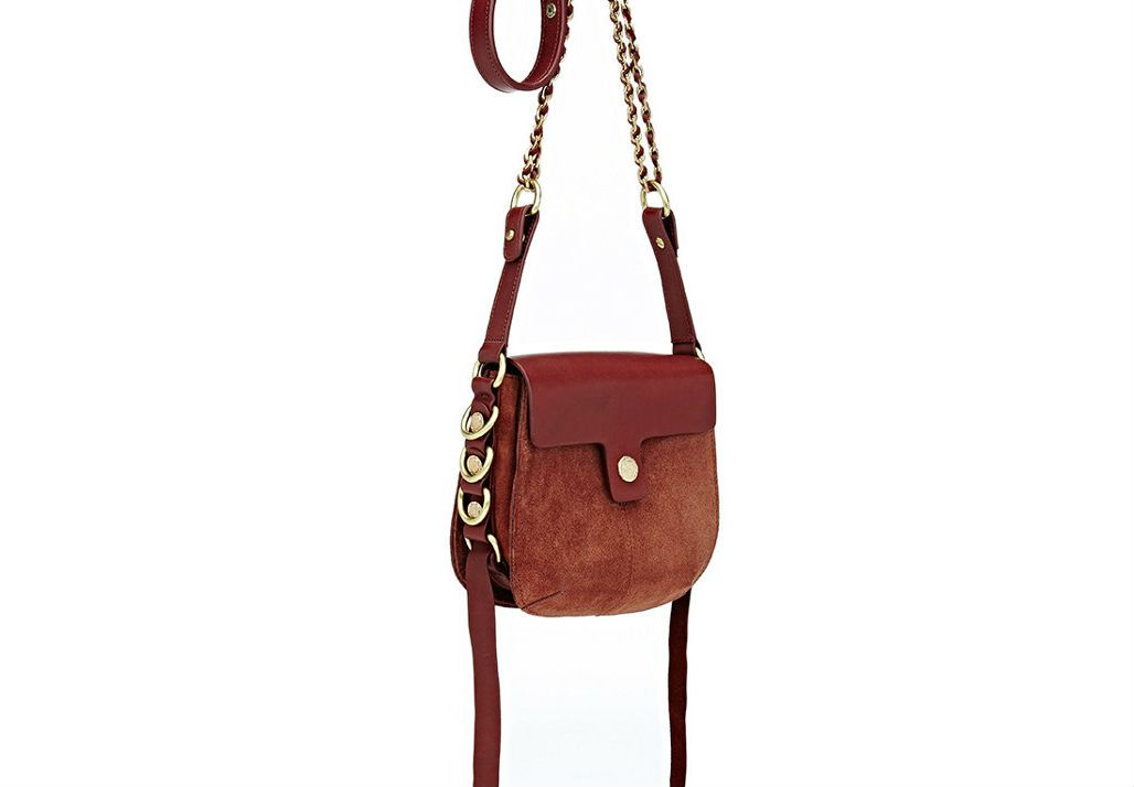 Maison Mayle Andalou Shoulder Bag in brown with a gold chain