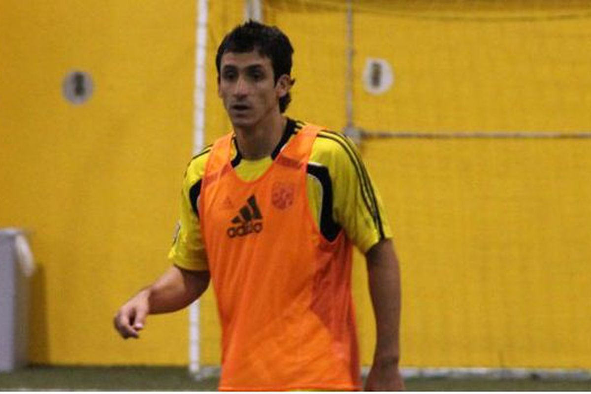 Milovan Mirosevic in the Black and Gold (Photo: Columbus Crew)