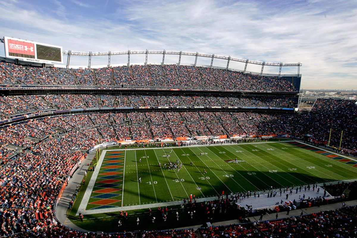 DENVER - DECEMBER 26:  While I'm sure many of us wished it to be so, most of us don't live at INVESCO Field. (Photo by Justin Edmonds/Getty Images)