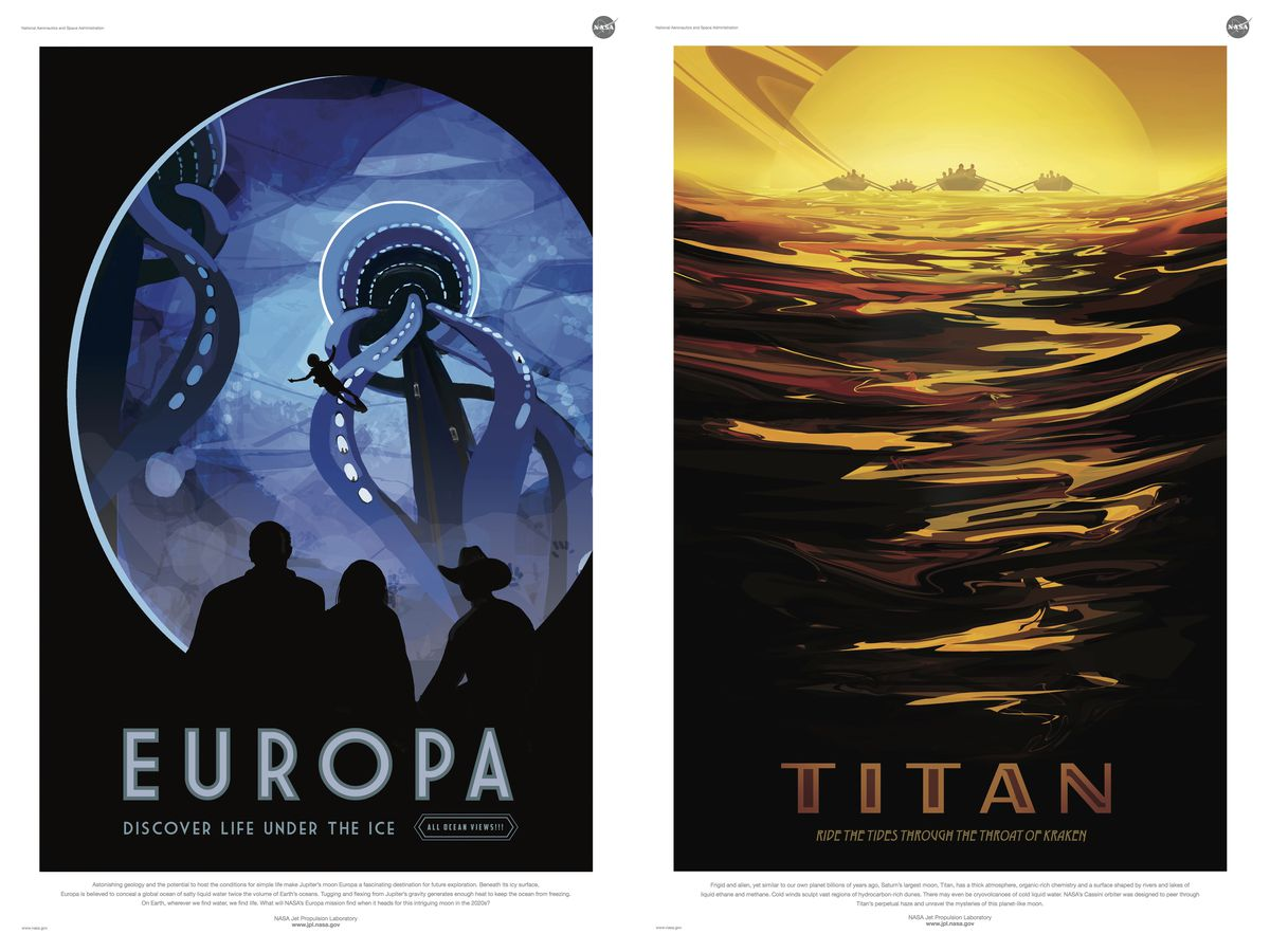 Europa and Titan posters
