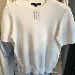 Alexander Wang jacquard tee in chalk, $250 (from $550)
