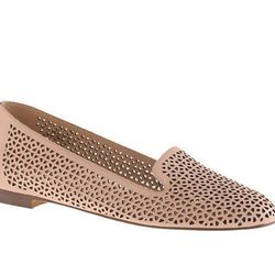 """<b>J.Crew</b> Cleo Perforated Loafers, <a href=""""https://www.jcrew.com/womens_category/shoes/loafersoxfords/PRDOVR~A1238/A1238.jsp"""">$188</a>"""