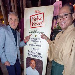 Larry Ruvo and chef Masaharu Morimoto at UNLVino Sake Fever.