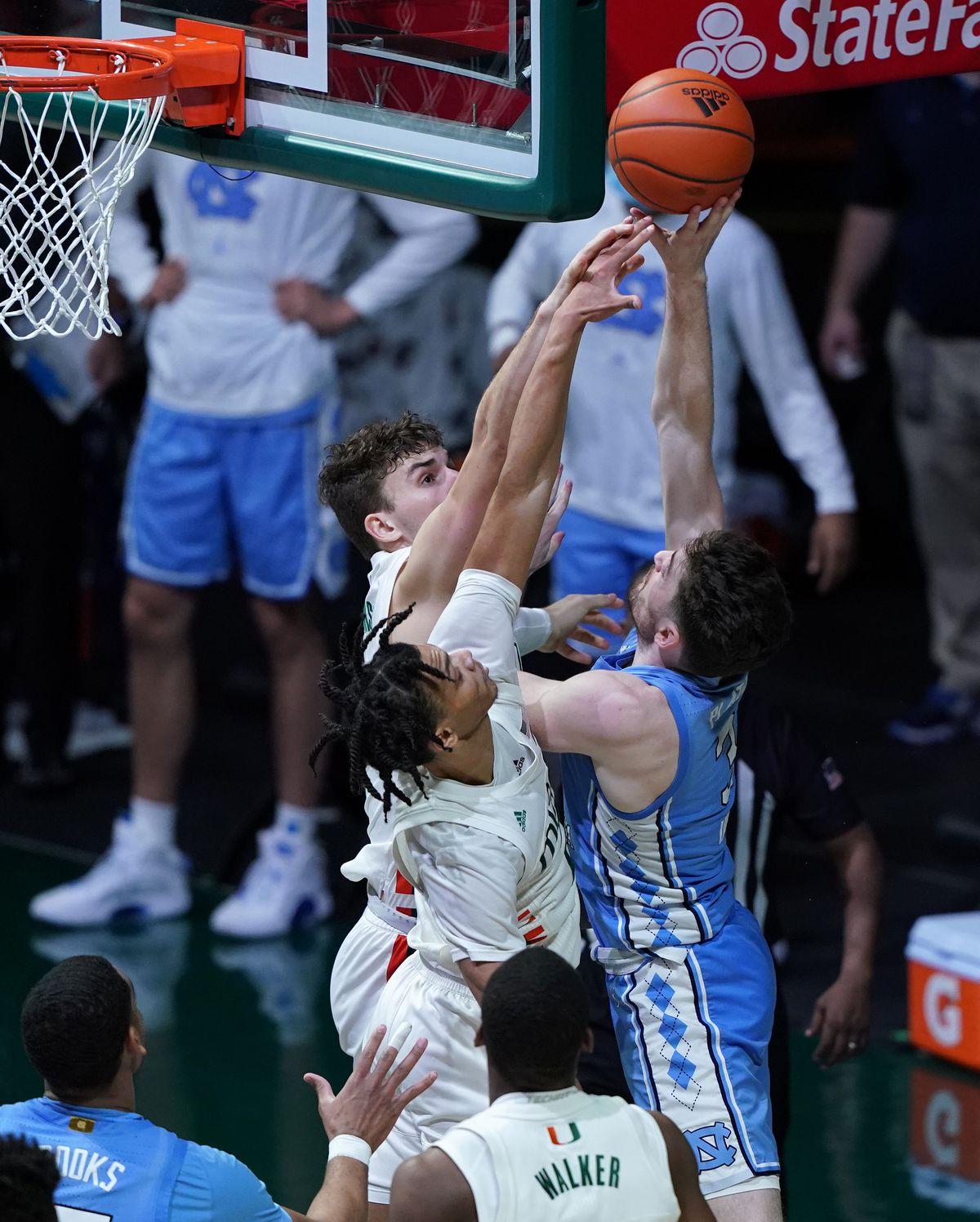 NCAA Basketball: North Carolina at Miami-Florida