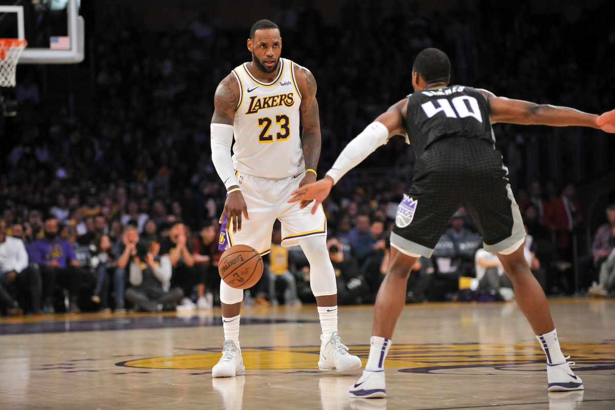the best attitude 90741 9c6d5 Lakers reportedly plan on starting LeBron James at point guard next season.  What does that mean for the rotation