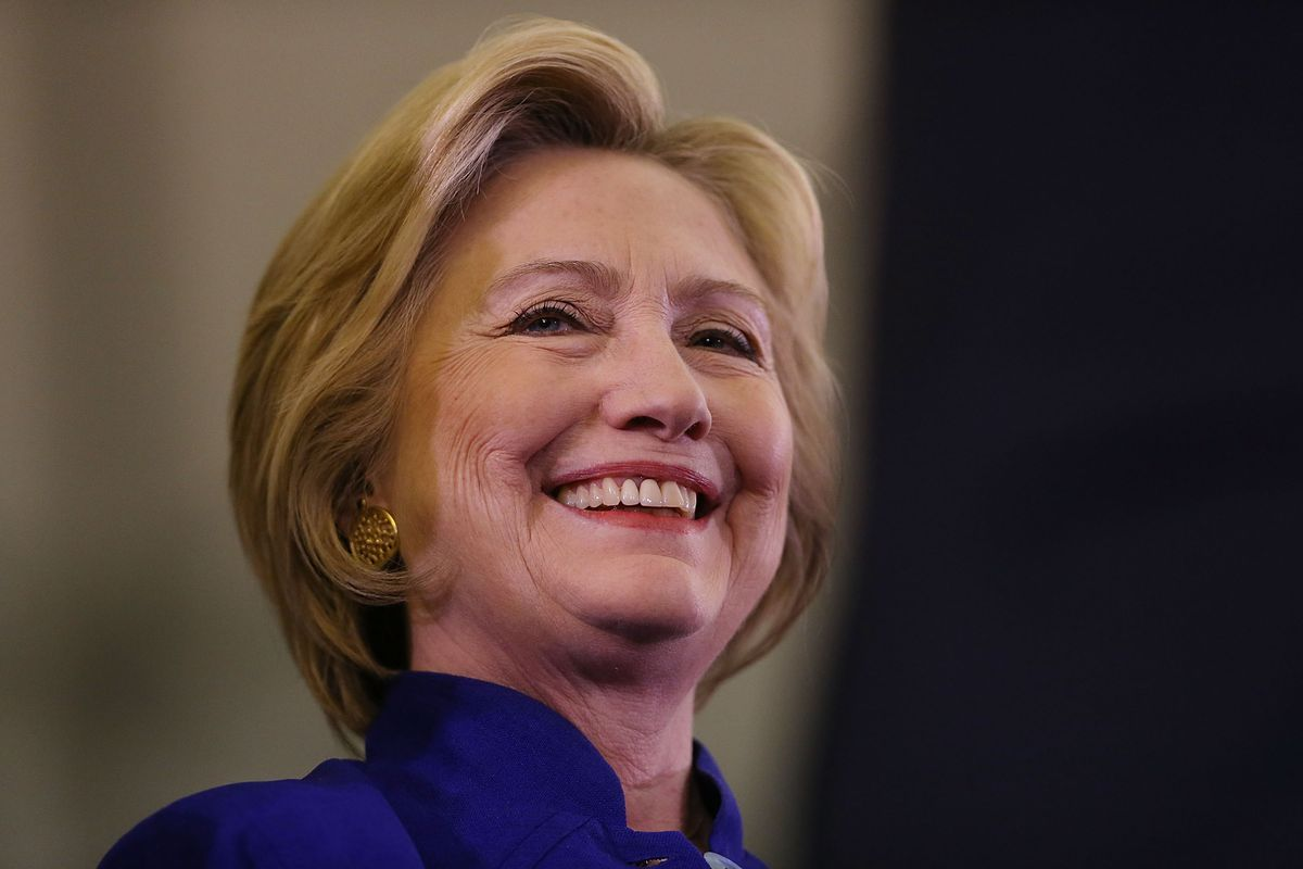 Democratic presidential candidate Hillary Clinton attends a rally on June 1, 2016, in Newark, New Jersey.