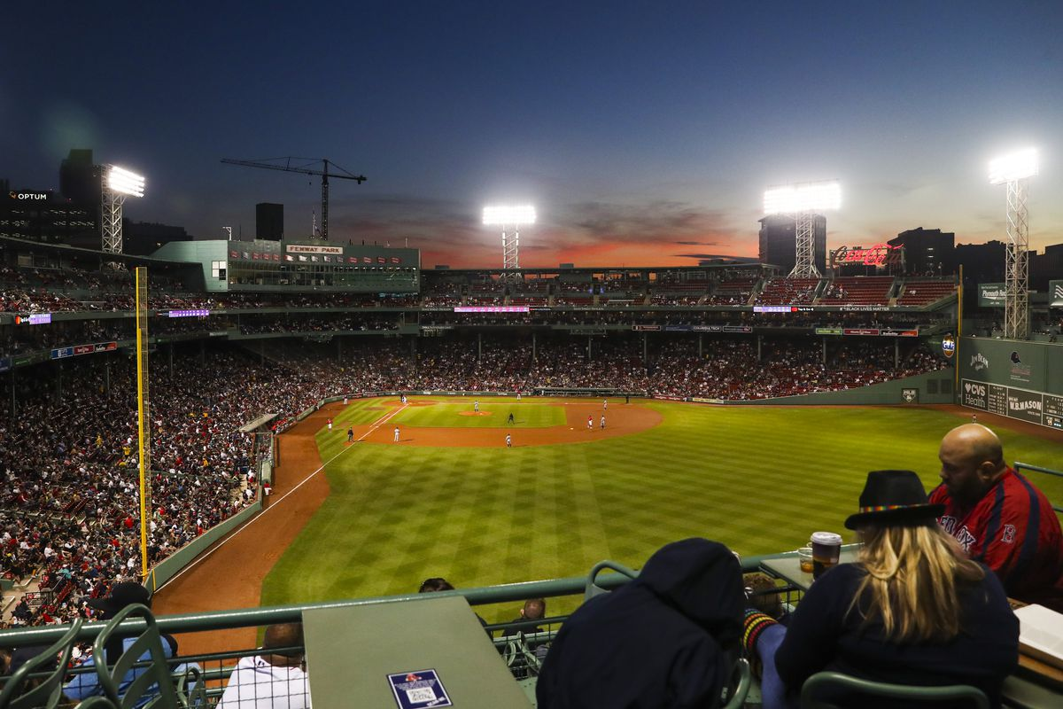 A general view during a game between the Boston Red Sox and the Houston Astros at Fenway Park on June 10, 2021 in Boston, Massachusetts.