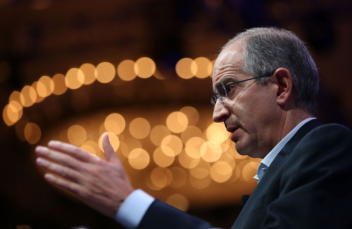 Comcast chairman and CEO Brian L. Roberts speaks during the Fortune Global Forum on November 3, 2015 in San Francisco, California. Business leaders are attending the Fortune Global Forum that runs through November 4. (Photo by Justin Sullivan/Getty Images