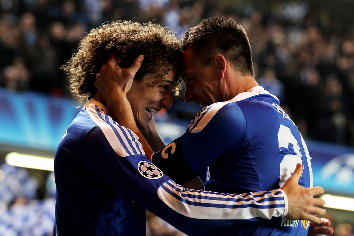 David Luiz, John Terry and Chelsea FC will be coming to Seattle to face the Sounders this summer.  (Photo by Clive Rose/Getty Images)