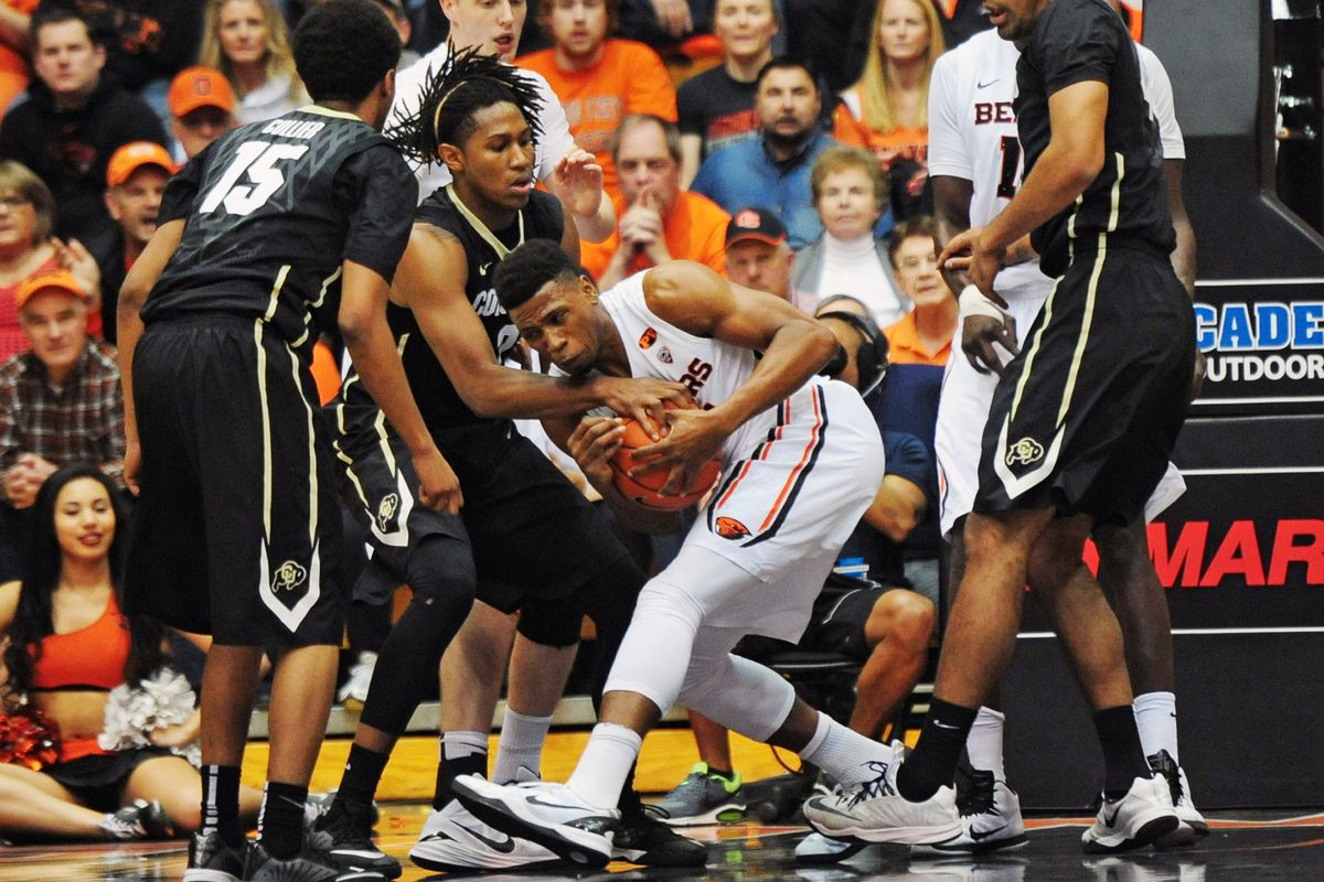 Behind a huge first half Oregon State was able to control the game against Colorado and win their school record 15th home game