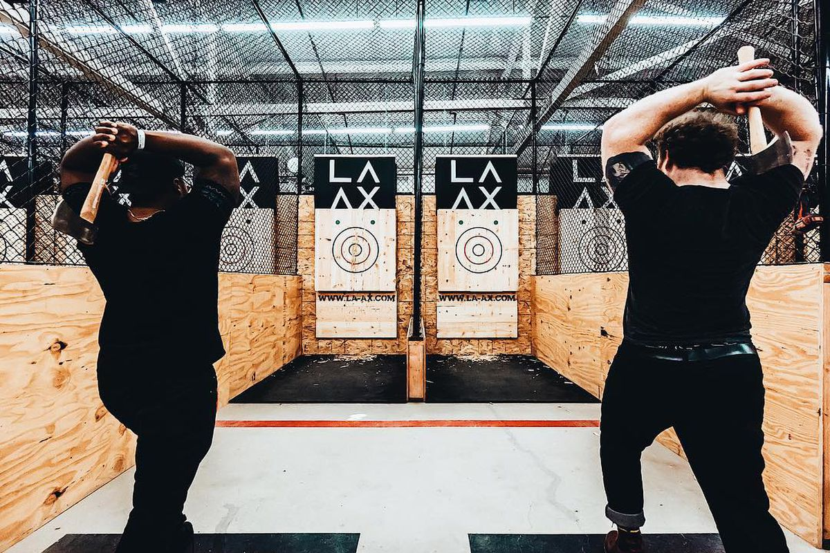 LA's First Ax-Throwing Bar Just Opened in a North Hollywood