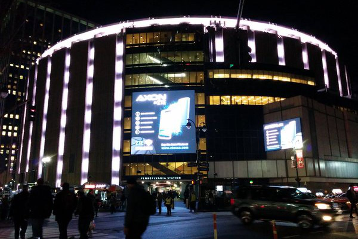 In the future all teams will play at Madison Square Garden