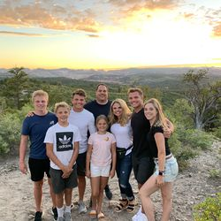 The Wilson family: Micah, Isaac, Zach, Sophie, Mike Lisa, Josh, Whitney.