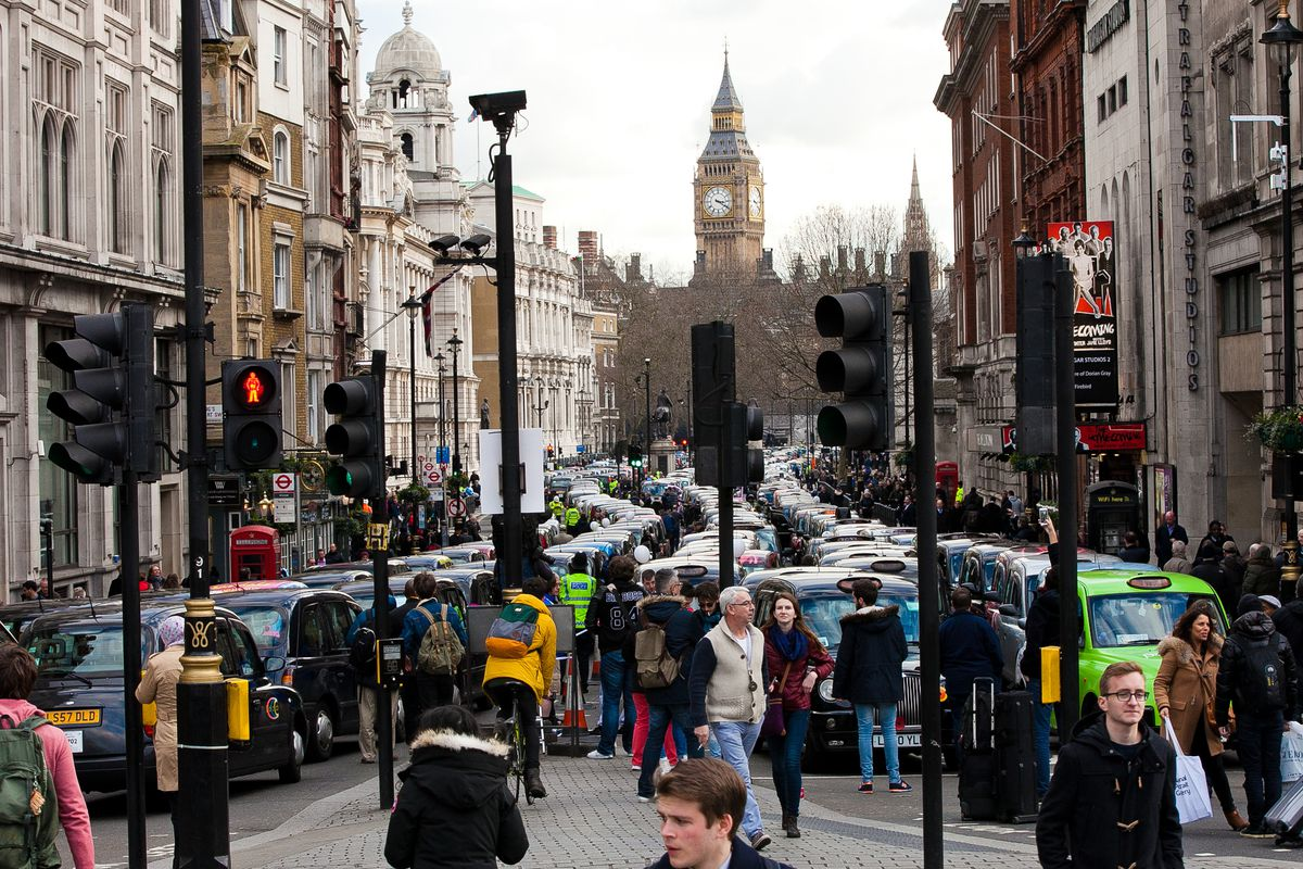 In 2016, thousands of London taxi drivers brought traffic to a standstill to protest Uber.