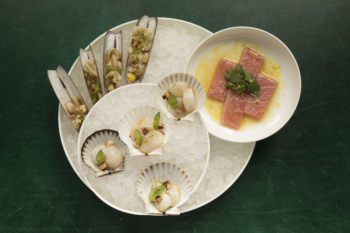 The tuna among other crudo