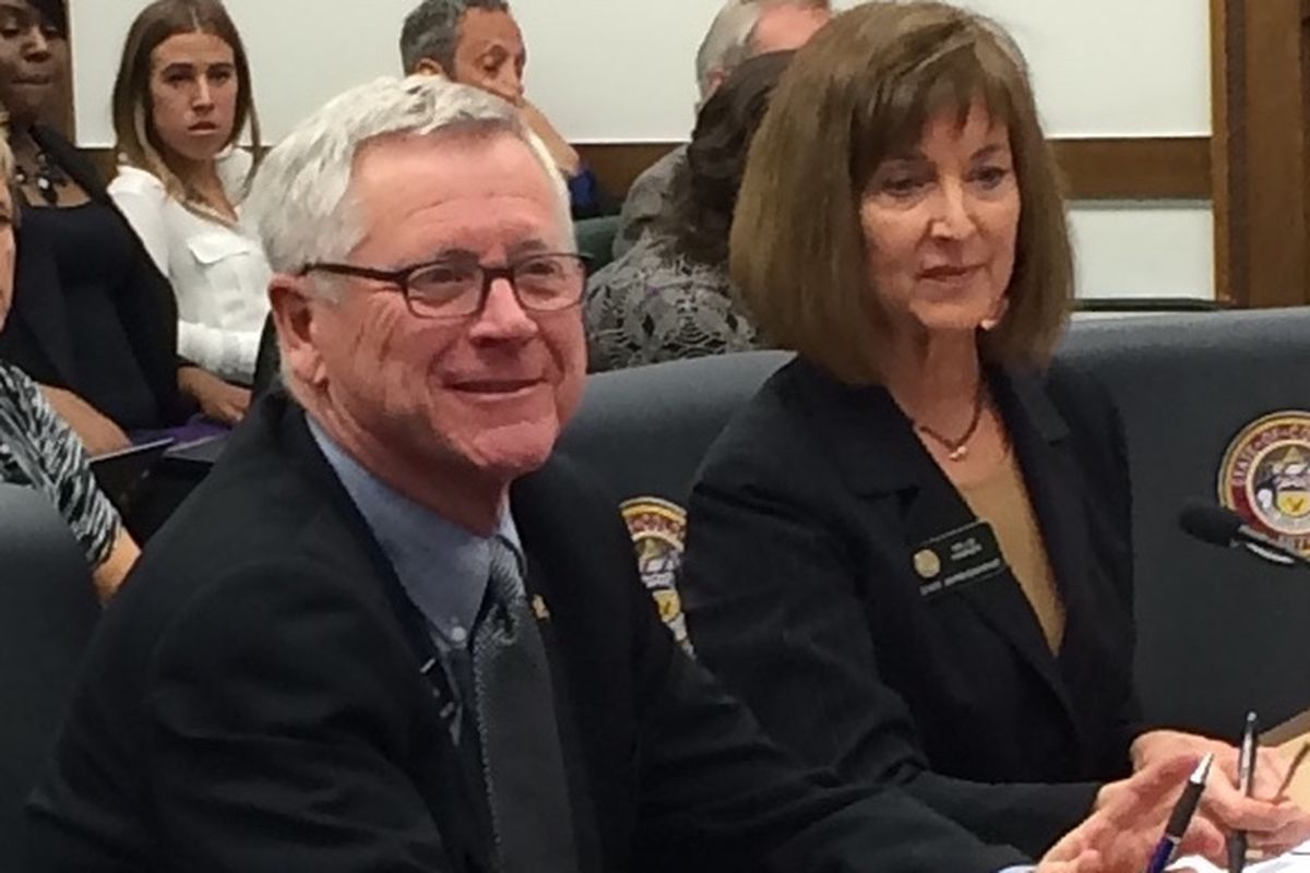 Reps. Bob Rankin and Millie Hamner had to defend their school finance bill against complaints that it was rushed.