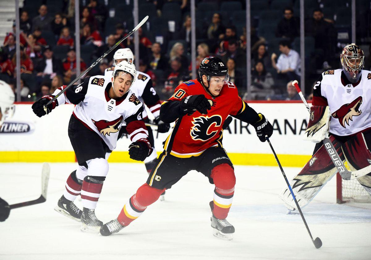 NHL: APR 03 Coyotes at Flames