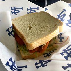 Spicy Chick Sandwich - Chicken, buffalo sauce, jalapeno slaw, umami aioli, pickles, Texas toast