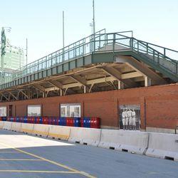 The left-field bleachers before demolition