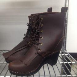 Clog boots, $225