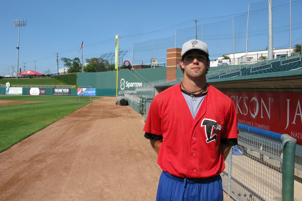 Daniel Norris with the Lansing Lugnuts in 2013