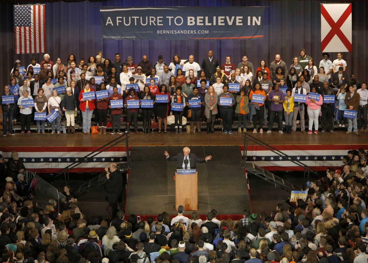 Democratic Candidate For President Bernie Sanders Holds Rally In Birmingham On MLK Jr. Day