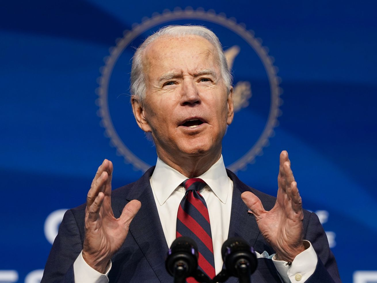 Then–President-elect Joe Biden announces members of his climate change team on December 19, 2020.