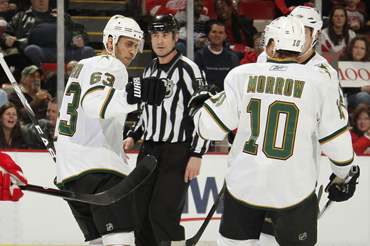 Mike Ribeiro struggles with the newest part of the sobriety test: the fist bump.