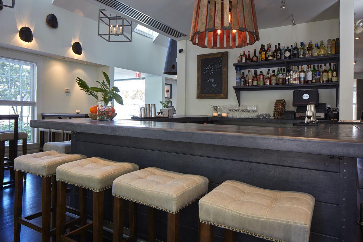 The bar at Yebo Beach Haus