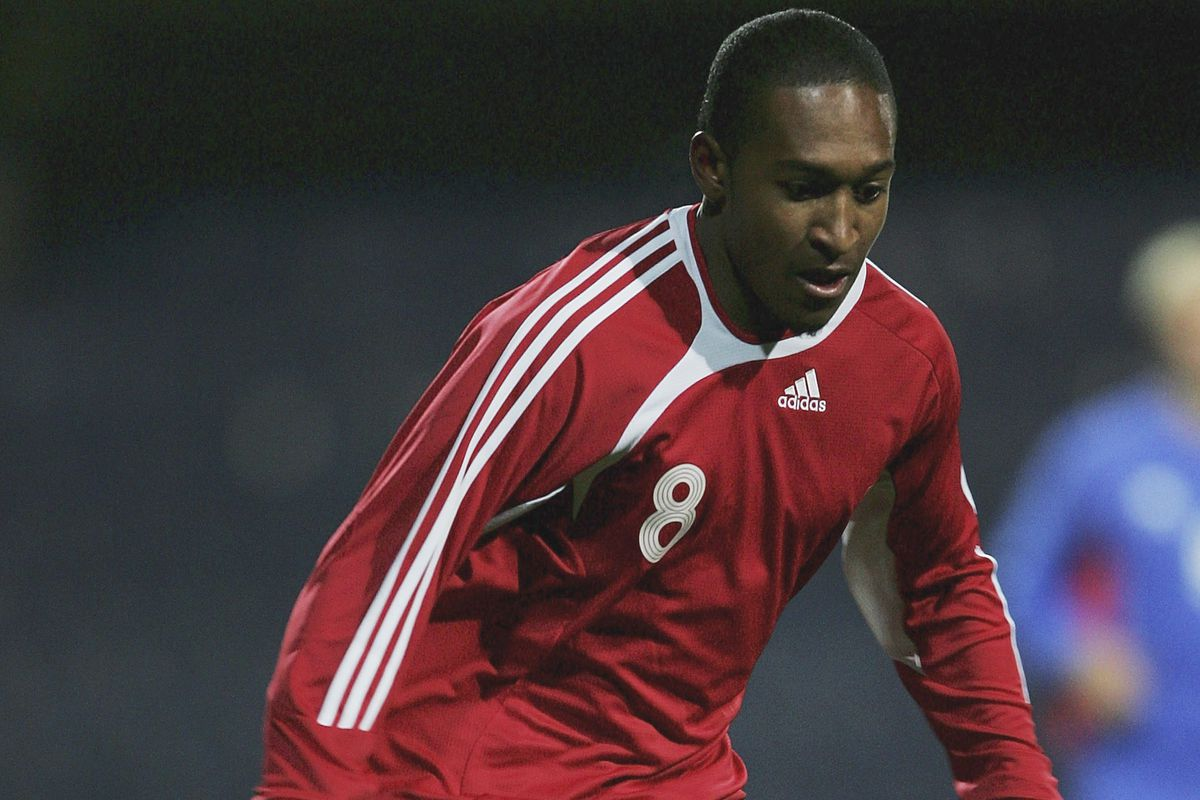 Ricky Shakes played for both Bolton and Brentford, and both Guyana and Trinidad & Tobago - pictured here on his debut for the latter