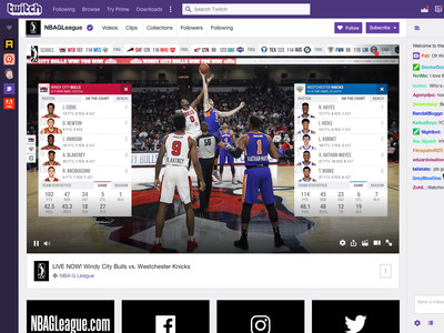 The NBA wants its games to look like Twitch, so it is streaming minor league games on Twitch