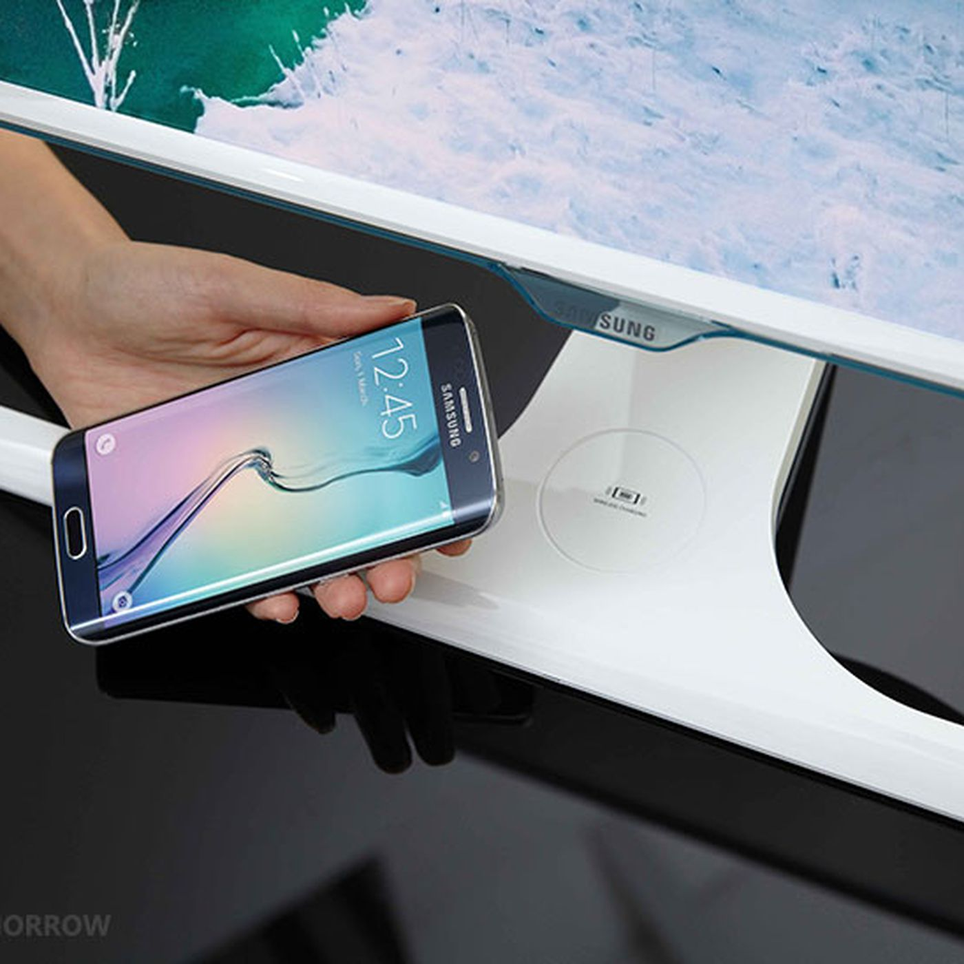Samsung's new monitor doubles as a wireless charger, because