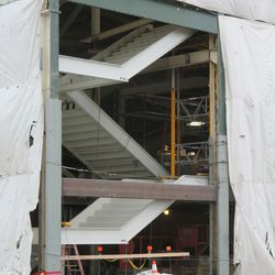New staircase in the northwest corner of the ballpark -