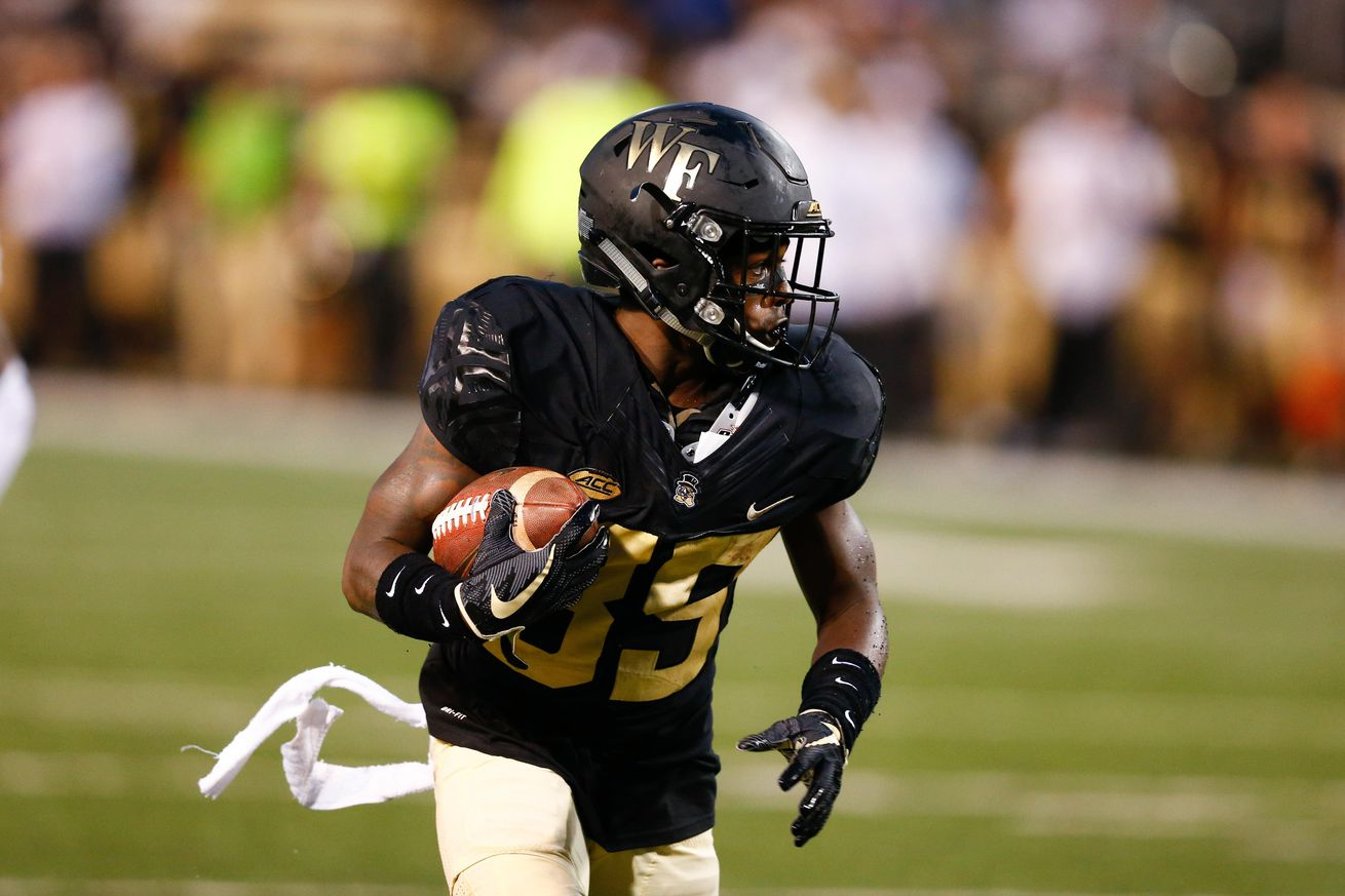 Wake Forest Depth Chart Vs Utah State Notes Snap Count Updates