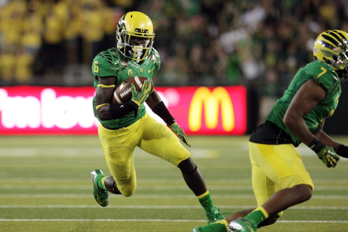De'Anthony Thomas is apparently really fast. No, but seriously.