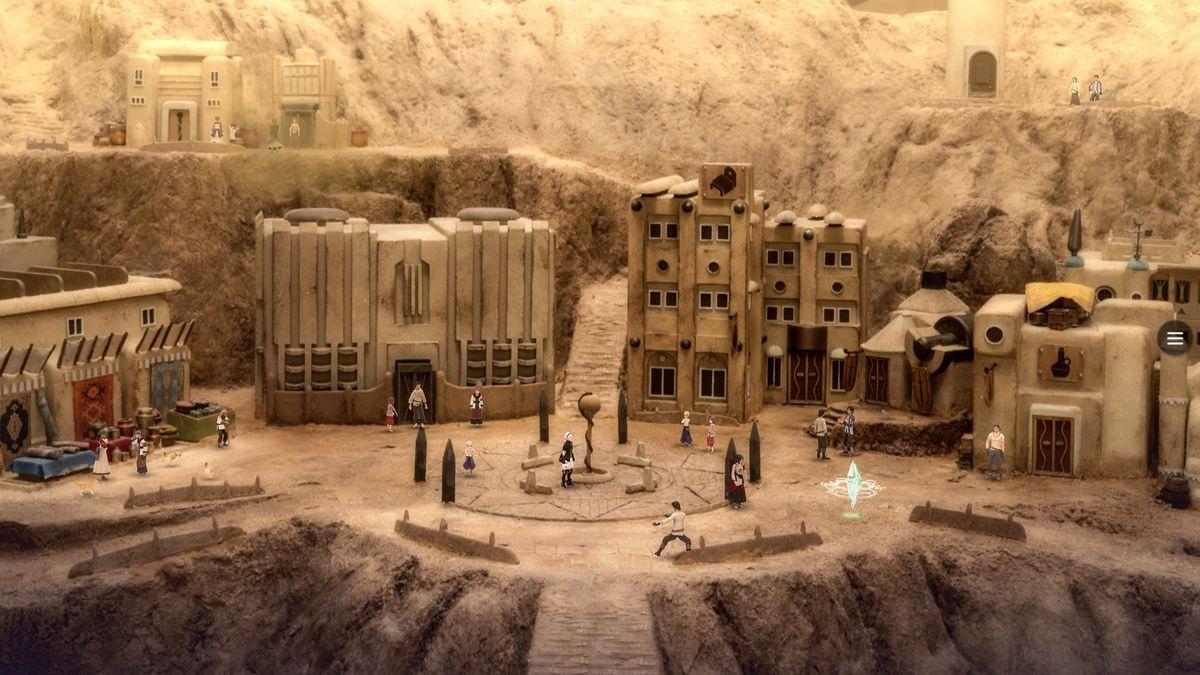 Una ciudad desértica en Fantasian