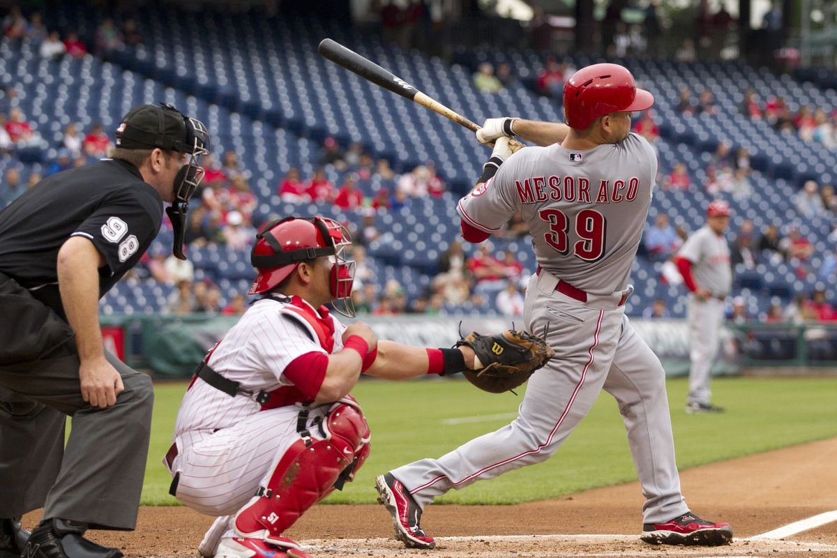 This is Mesoraco hitting a 3-run HR in his first AB off the DL.  Pretty much the story of his season.