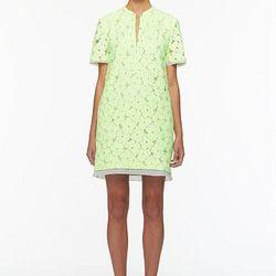 """<a href=""""http://www.dvf.com/Warner-Flower-Lace-Dress/D5273900Y12,default,pd.html?dwvar_D5273900Y12_color=HONED&start=16&cgid=sale"""">Warner Flower Lace Dress</a>,  $222.88 (was $395)"""