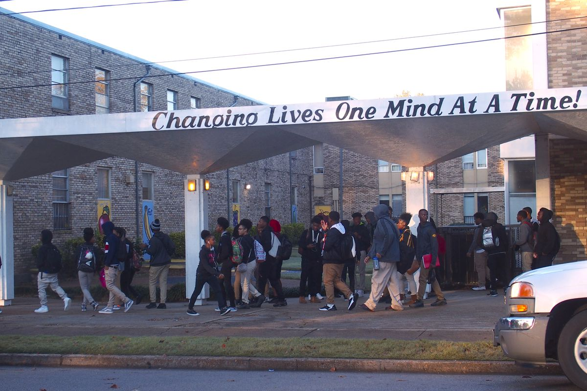 Students say Memphis Academy of Health Sciences High School has been uneasy since the principal was fired in August.