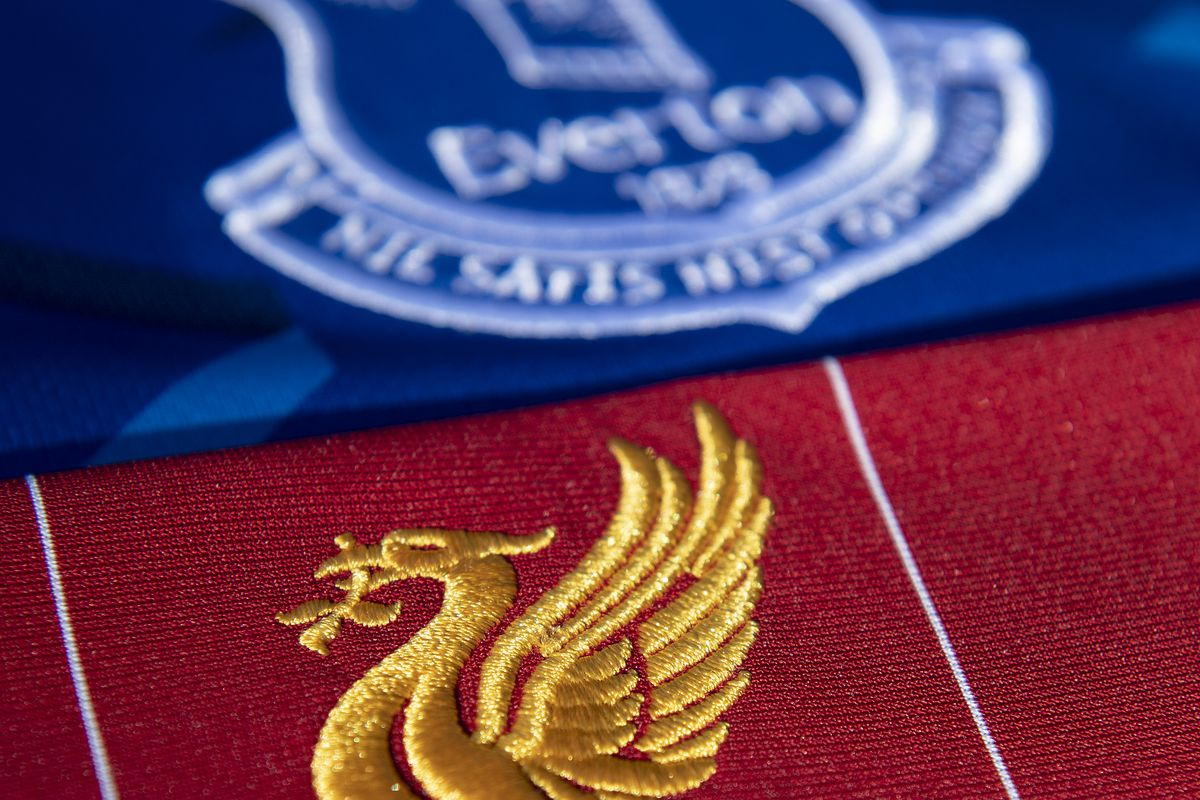 The Everton and Liverpool Club Badges