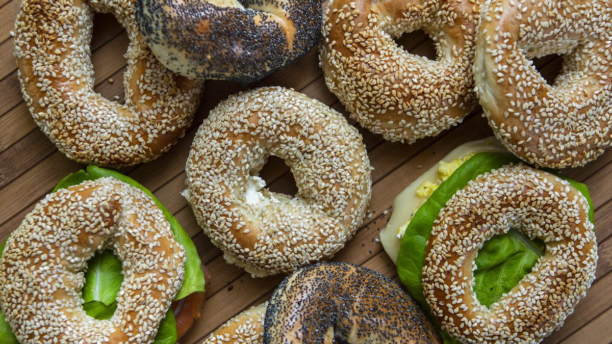 Bagels and sandwiches from Le Trou.