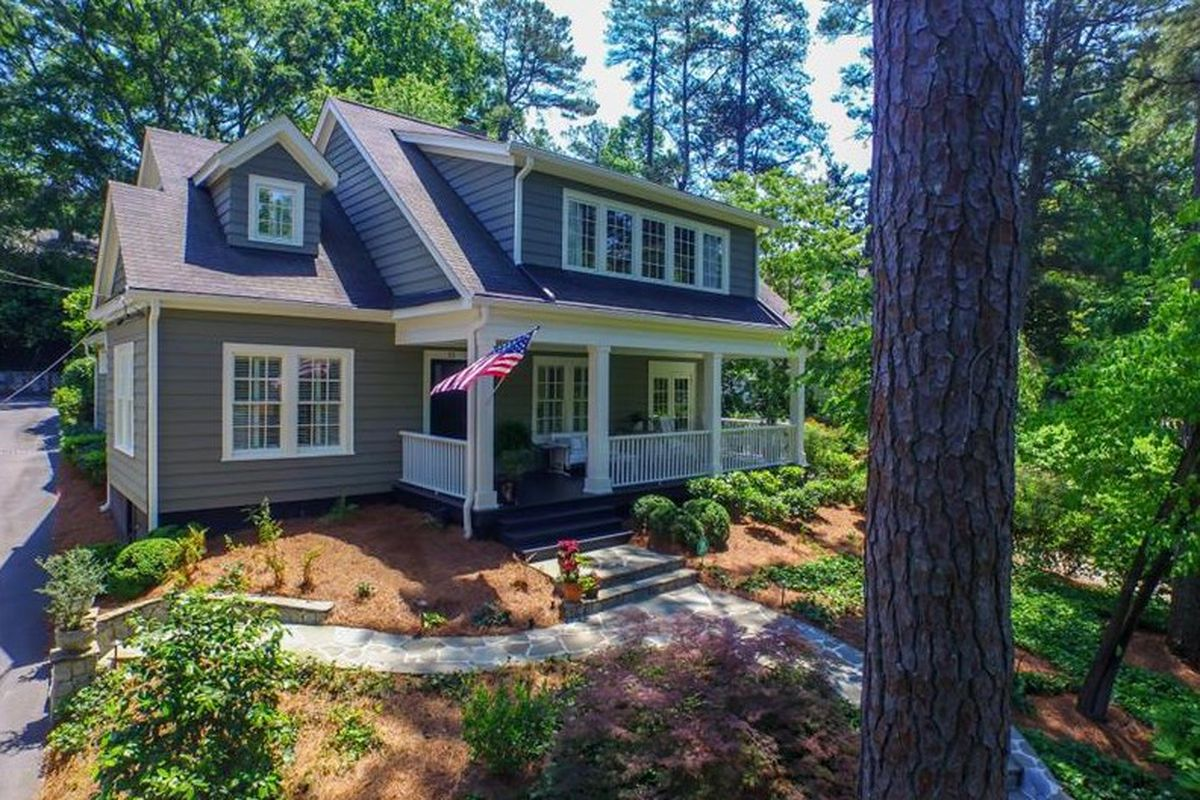 A 1920s home for sale in Peachtree Heights Atlanta.