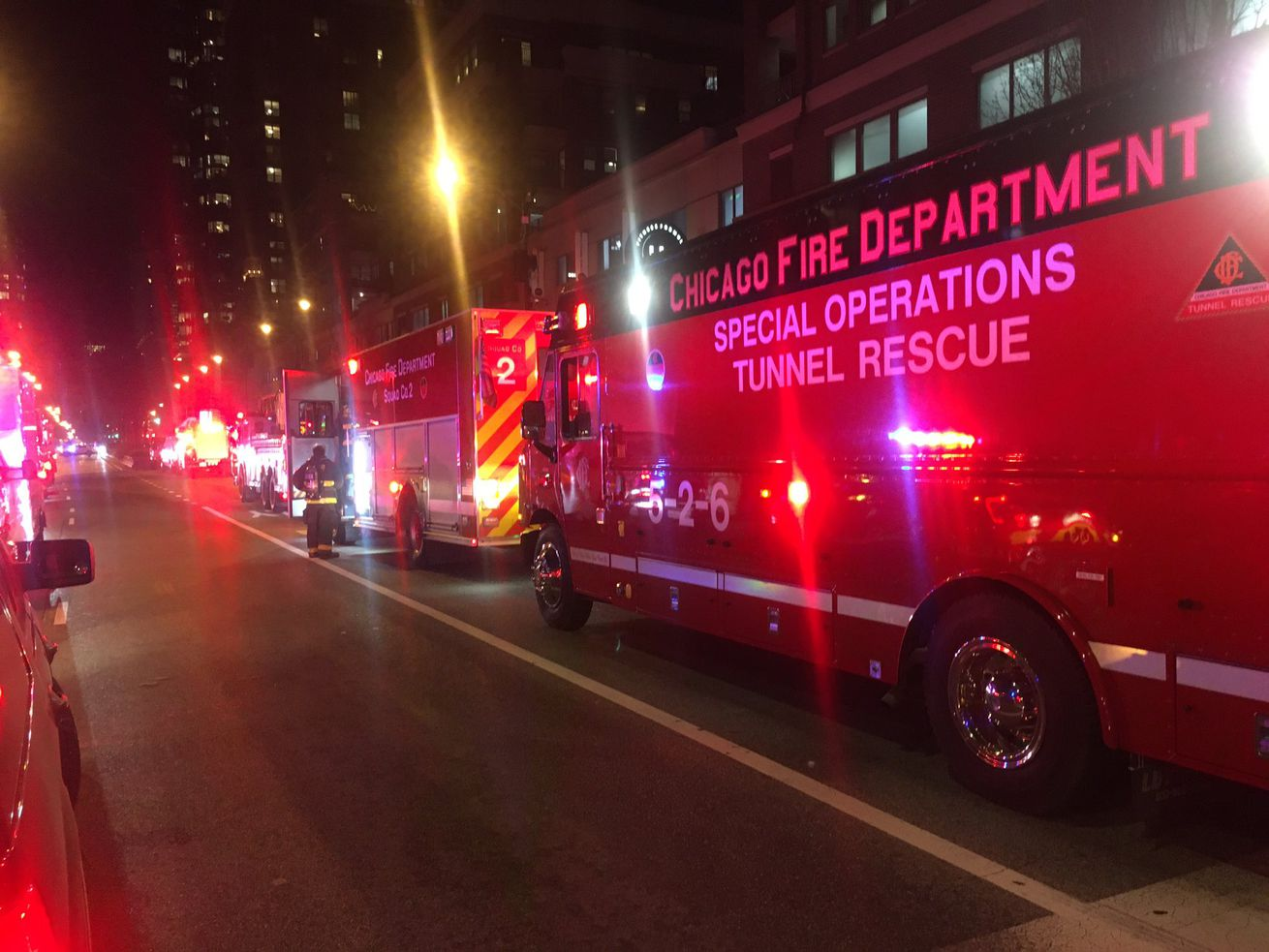Firefighters responded to a rubbish fire Dec. 3 impacting Red Line train service.