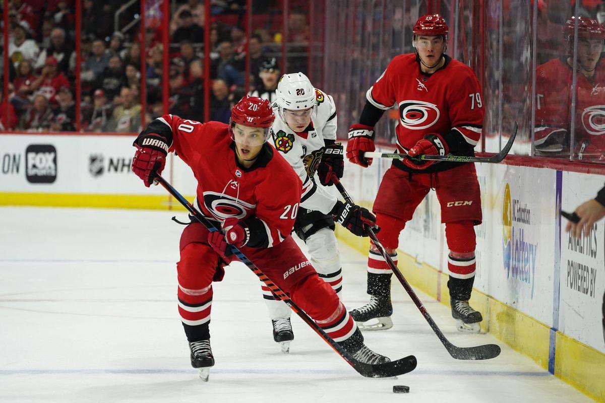 NHL: NOV 12 Blackhawks at Hurricanes