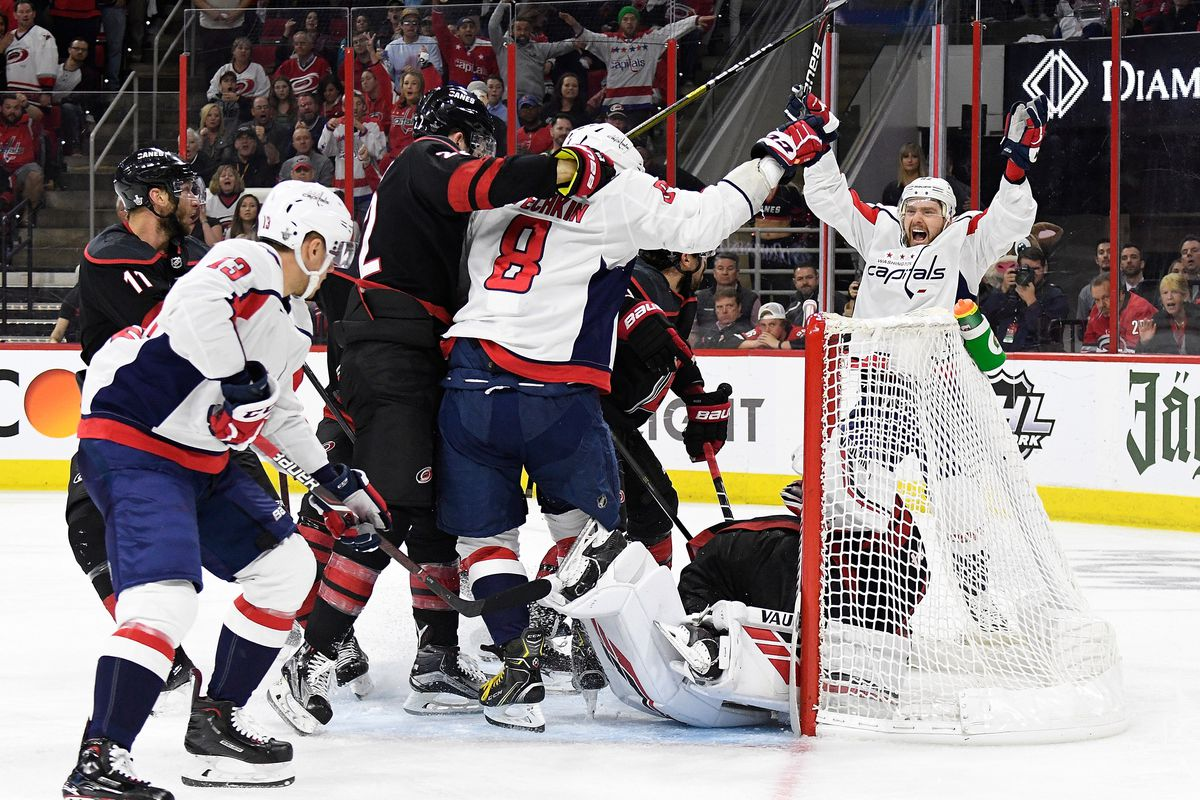 The Caps are on the wrong end of a goal review (for a change) and now face a Game 7 (for a change)