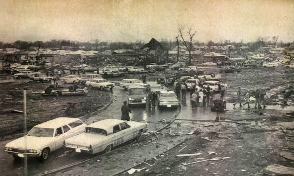 Some of the damage from the F4 tornado that devastated Belvidere on April 21, 1967.